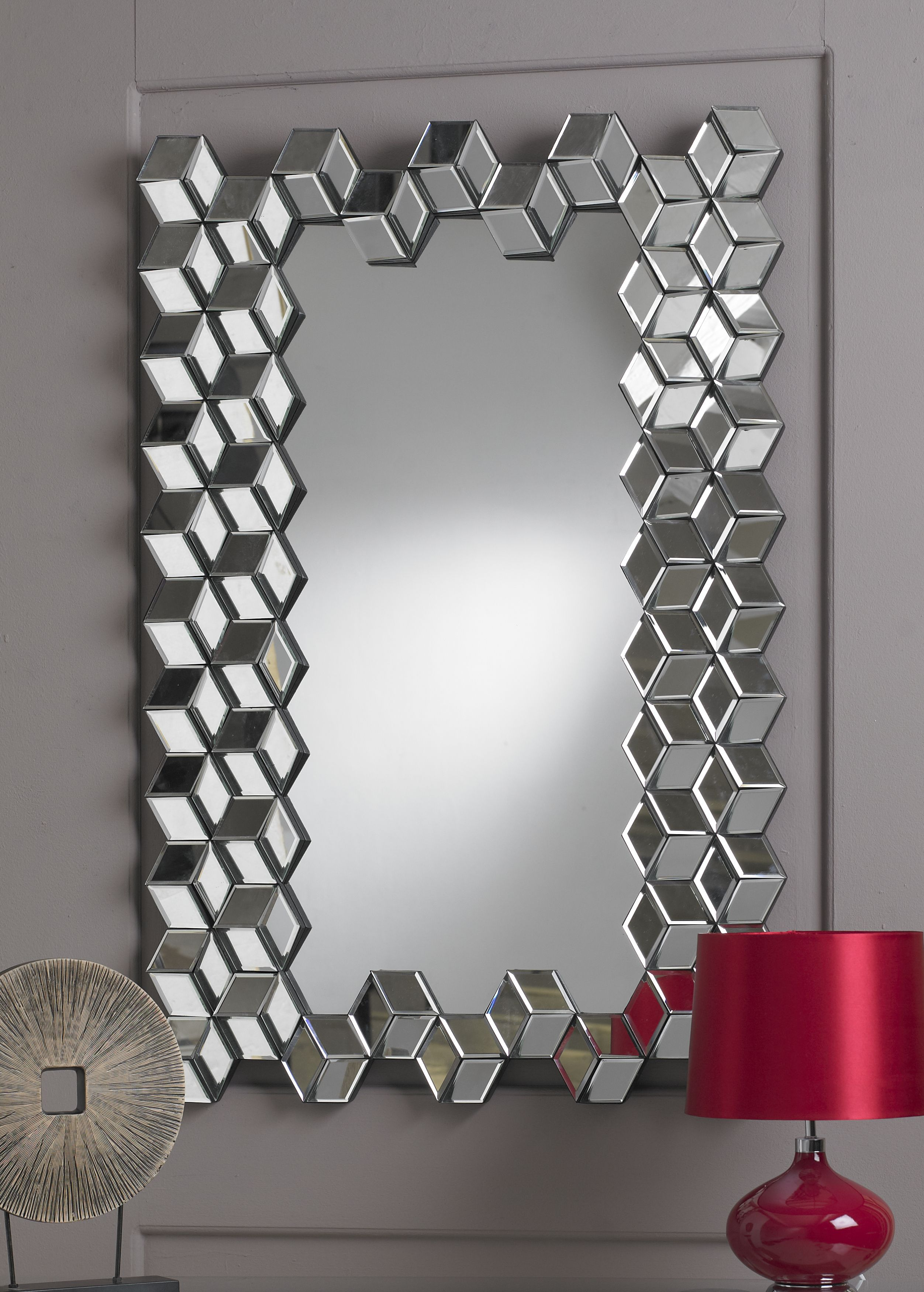 This Mirror Is A Remarkable Designer Mirror It Features A Border - Designer mirrors for living rooms
