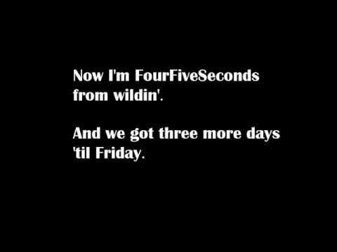 Rihanna Four Five Seconds Ft Kanye West Paul Mccartnery Lyrics Rihanna Four Five Seconds Like This Song Four Five Seconds