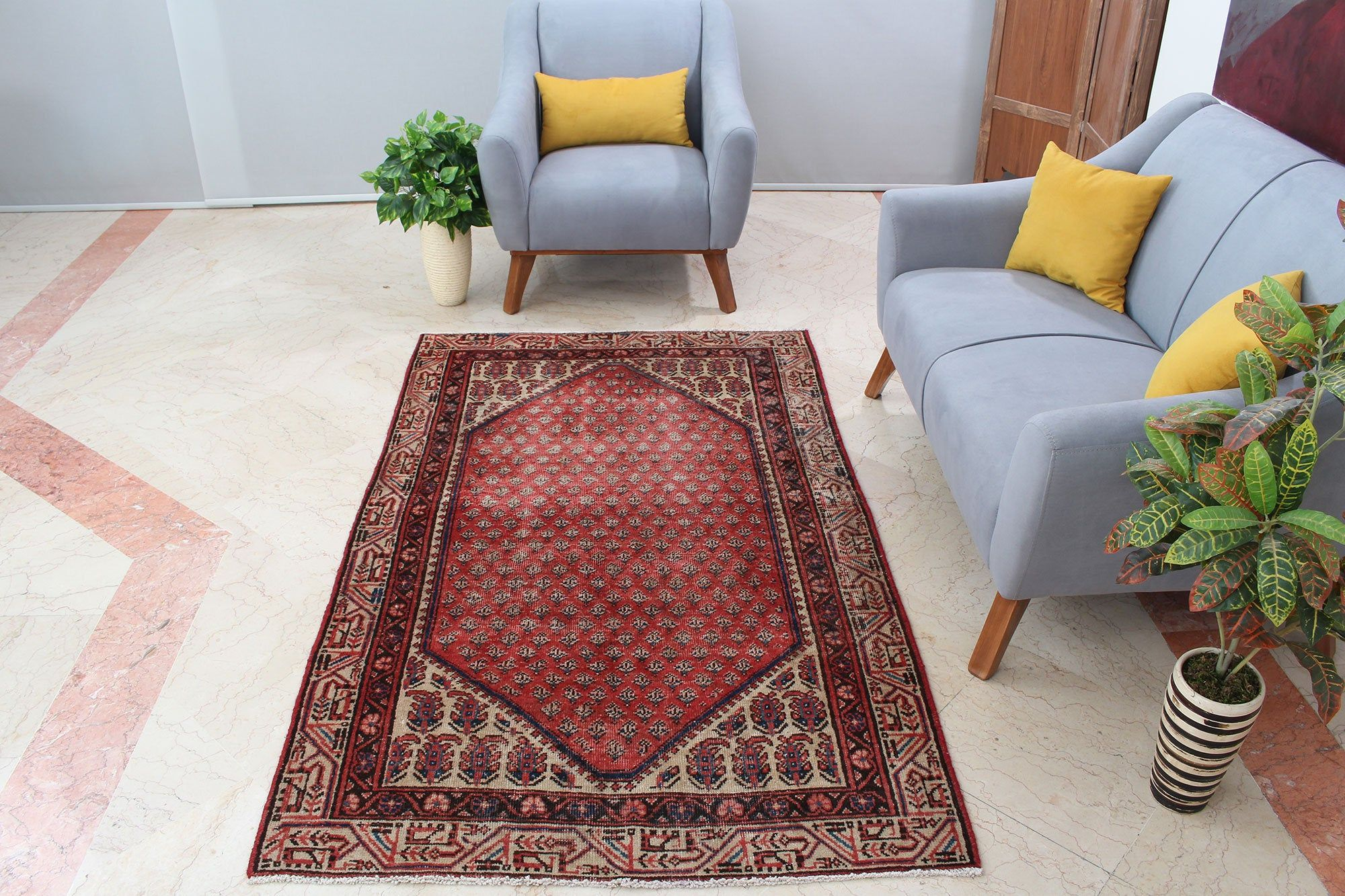 Handmade Living Room Area Rug 4x6 Rustic Vintage Turkish Red Etsy In 2020 Living Room Area Rugs Area Room Rugs 4x6 Area Rugs