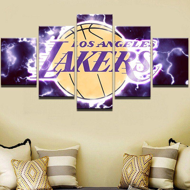Los Angeles Lakers Canvas Print Five Piece Wall Art Home Decor | Los ...