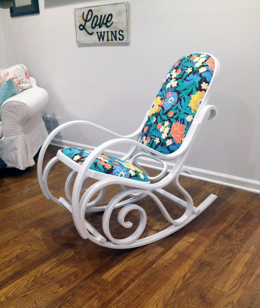 How to Add Upholstery to a Rocking Chair   Bentwood rocker ...