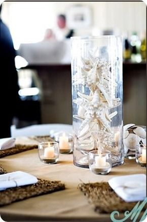 Beach Wedding Centerpieces Ideas Would Want Stuffed With Shells No Gaps