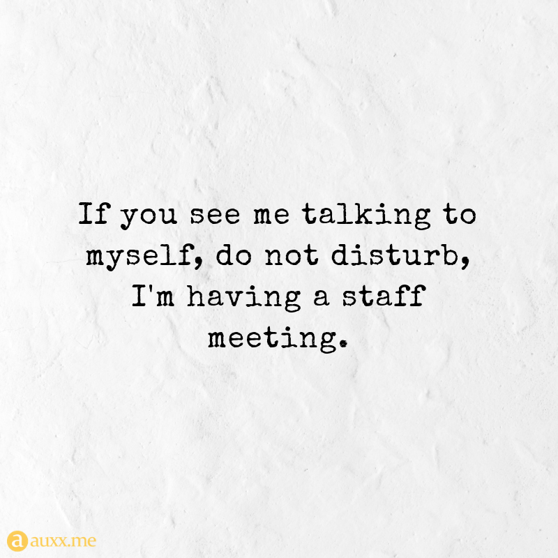 If You See Me Talking To Myself Do Not Disturb Quotes For Life Talk To Me Quotes Alone Time Quotes Meetings Quotes