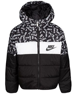 59663d332bf8 Shop Nike Toddler Boys Oversized Colorblocked Puffer Jacket online ...