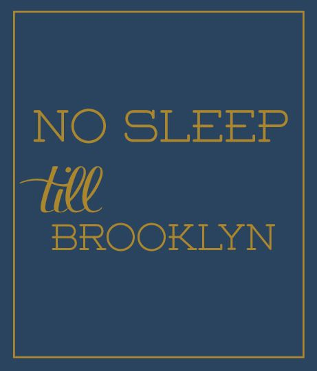 luvloo Canvas Print No Sleep Till Brooklyn Luvloo $45.00