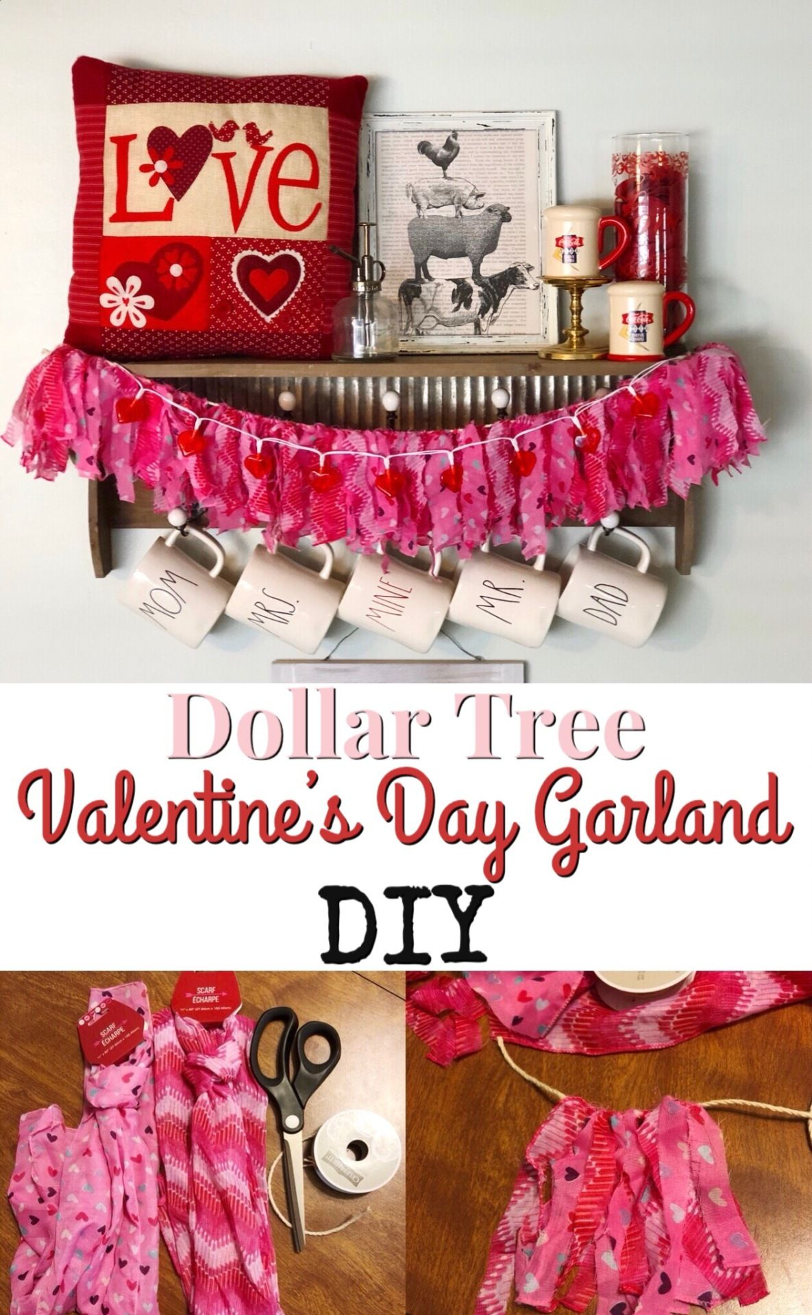Do it yourself valentines day dollar tree garland post your do it yourself valentines day dollar tree garland solutioingenieria Image collections