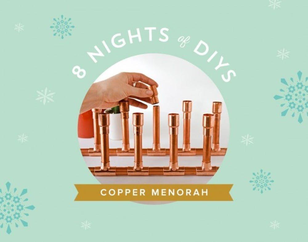 8 Nights of DIYs: Make This Copper Menorah for Hanukkah