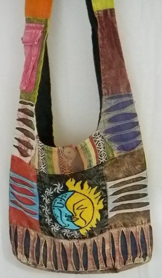 Festival Bag Boho Chic Multi Pocket Bag Peace Sling Bag Shoulder Bag Hippy