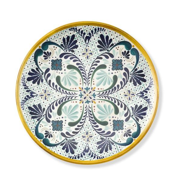 veracruz melamine dinner plates set of 4 yellow - Melamine Dinner Plates