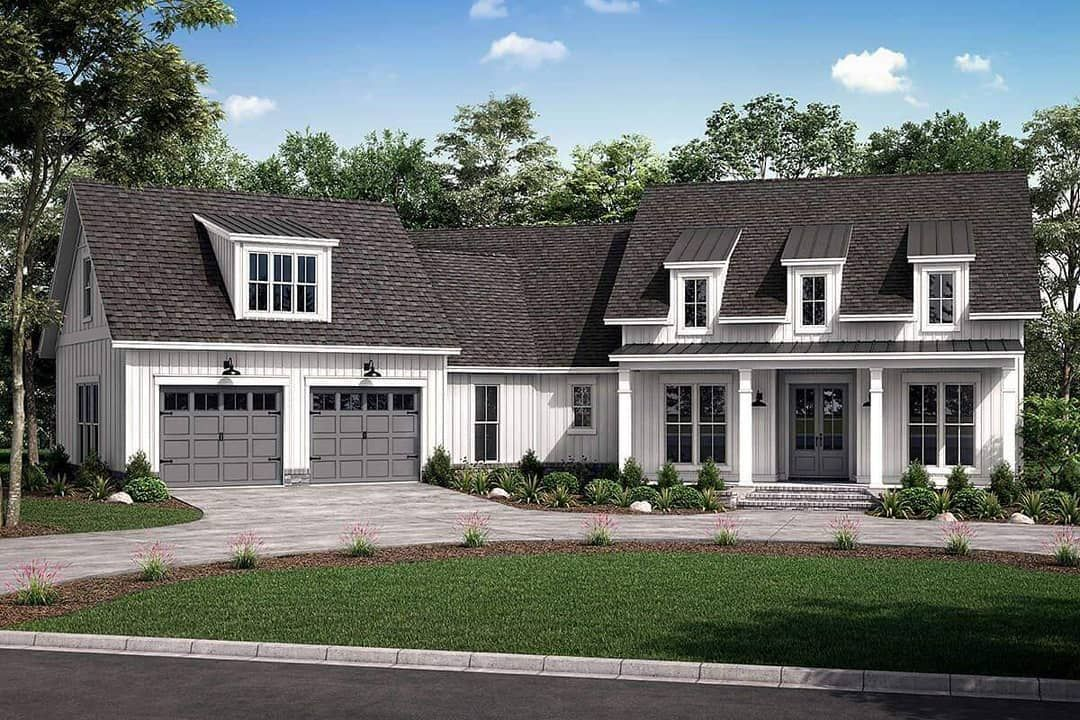 America S Best House Plans On Instagram A Classic Modern Farmhouse Home Plan 041 00 In 2020 Farmhouse Style House Plans Farmhouse Style House Modern Farmhouse Plans