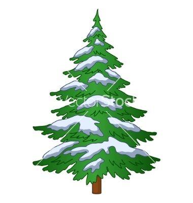 Fur Tree Under The Snow Vector Art Download Vectors 289448 Fur Tree Watercolor Christmas Tree Snow Vector