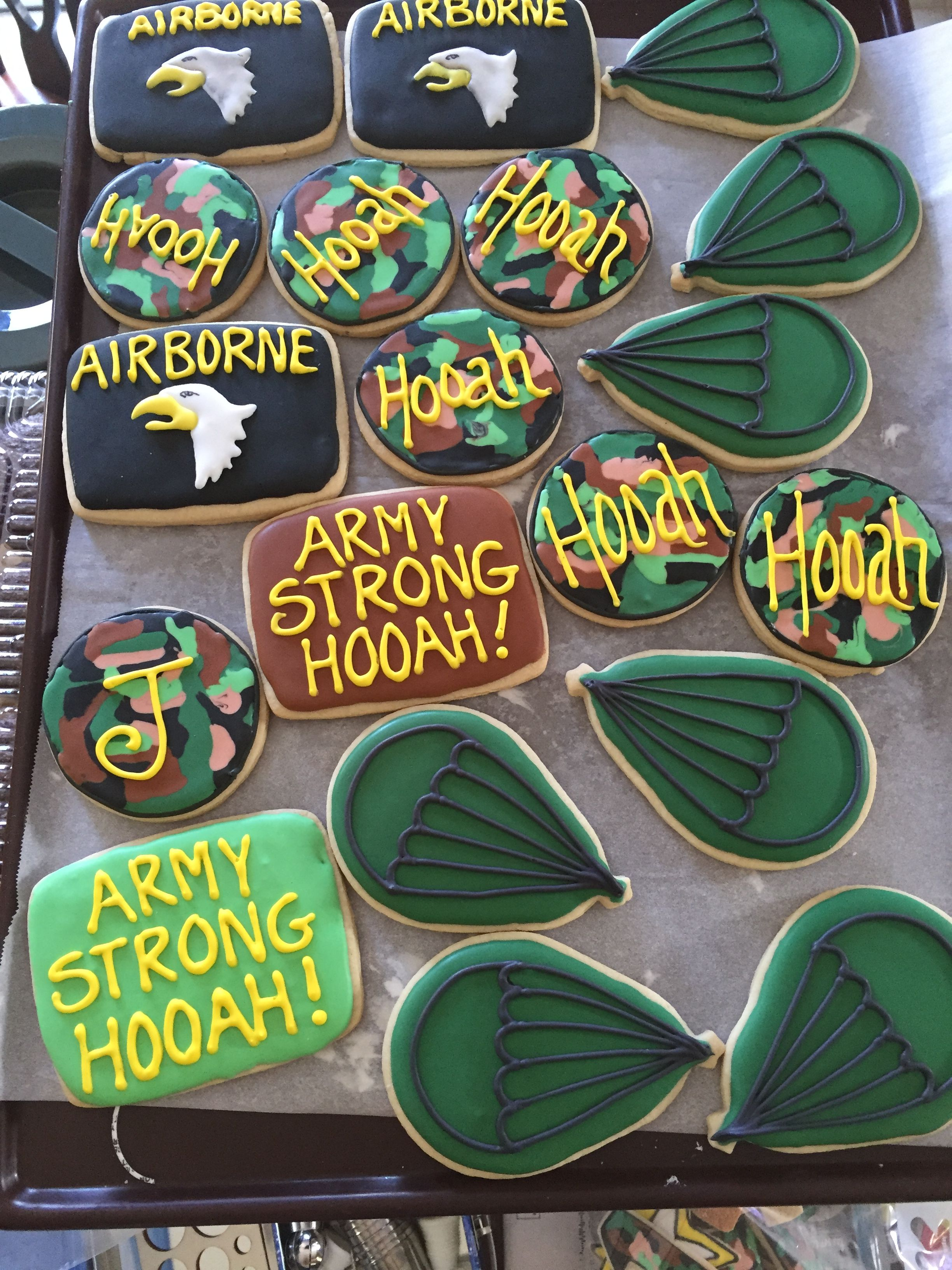 Army Cookies Patriotic sugar cookies, Sugar cookies