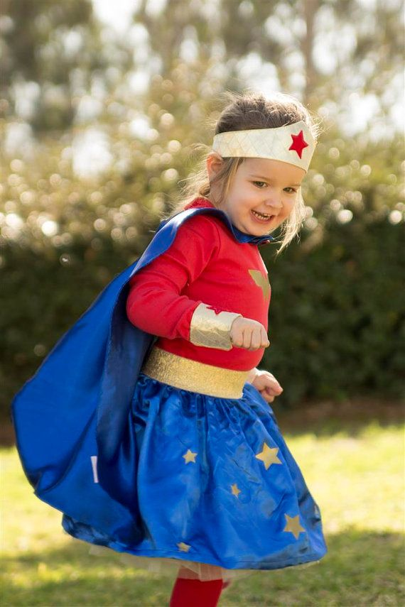 Wonder woman costume 3PC Skirt Red Top and Cape Toddler girls costume 3PC Halloween costume for girls toddlers - Wonder woman  sc 1 st  Pinterest : toddler wonder woman costume  - Germanpascual.Com