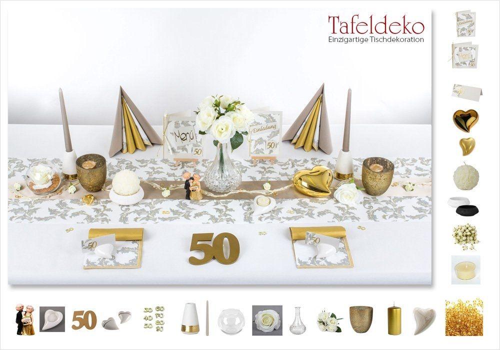 38 Neu Tischdeko Goldene Hochzeit Tischdekoration Deko