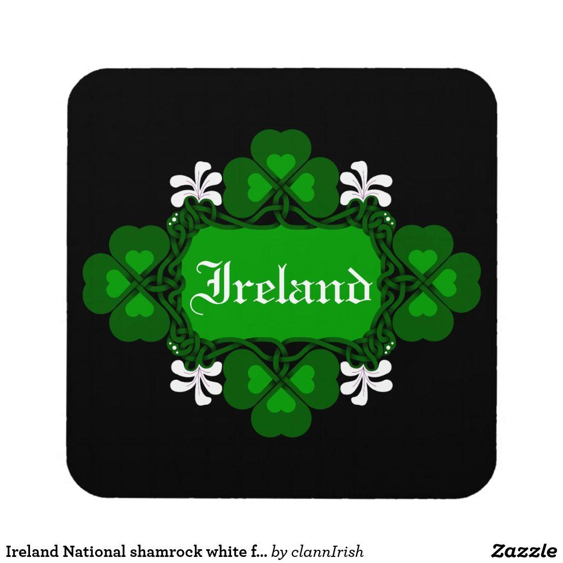 Ireland National shamrock white flowerCustom name