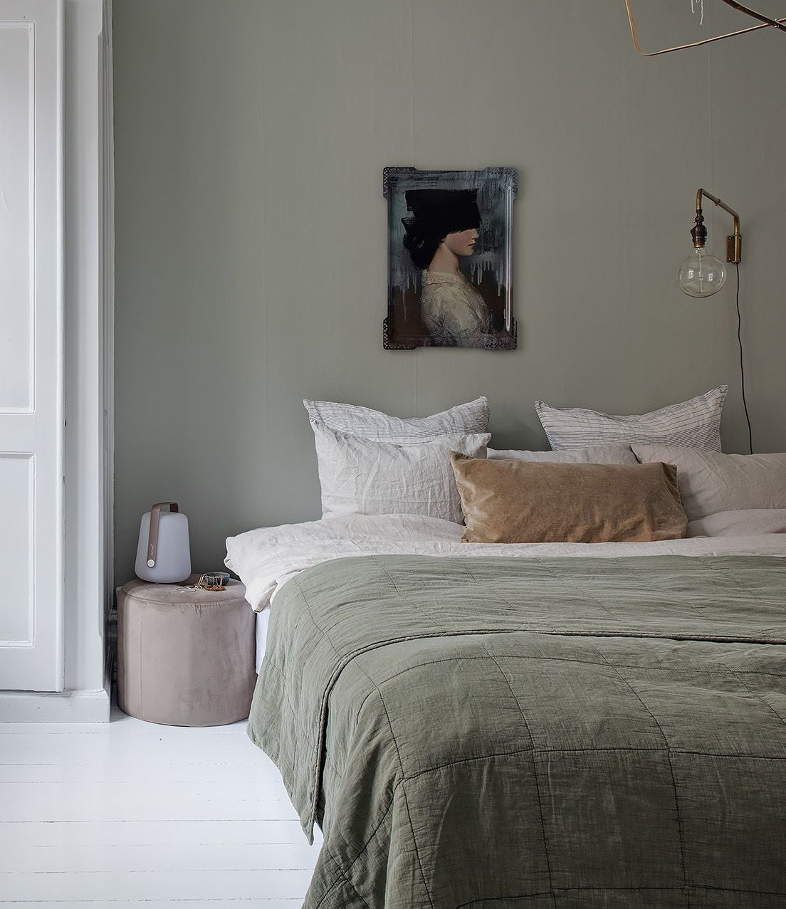 Bedroom in pale green - via Coco Lapine Design blog #style #shopping #styles #outfit #pretty #girl #girls #beauty #beautiful #me #cute #stylish #photooftheday #swag #dress #shoes #diy #design #fashion #homedecor