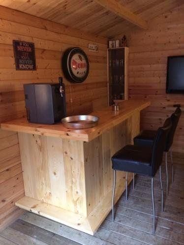 Wonderbaar Bar / Balie van steigerhout in 2019 | barretje tuinhuis - Tuin bar LC-15