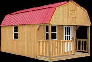Better Built Lofted Porch Shed Lofted Barn Cabin Portable Buildings Portable Storage Buildings