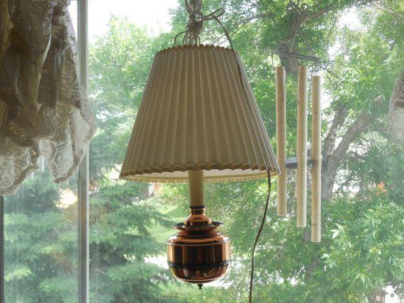 Vintage Swag Light, Vintage Brass Hanging Light, Brass Hanging Swag