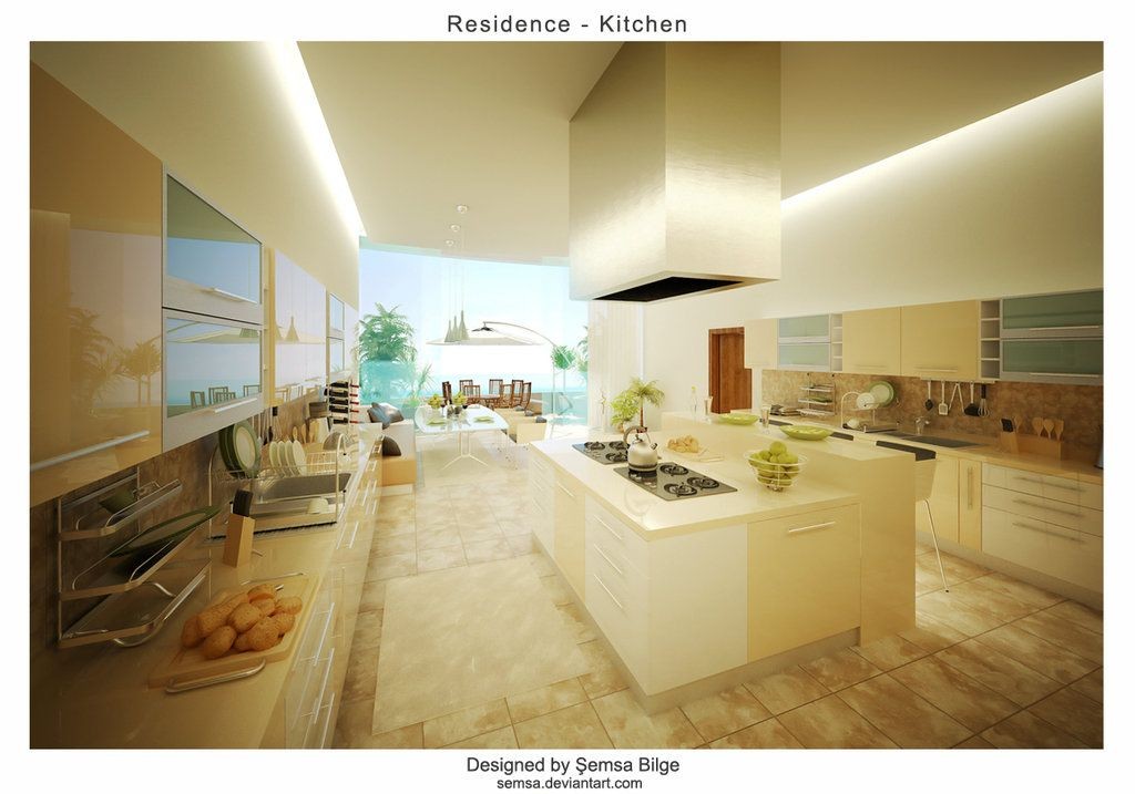 Residence 2 Kitchen 2 Designed, Modelled And Rendered By Şemsa Bilgeu0027 2