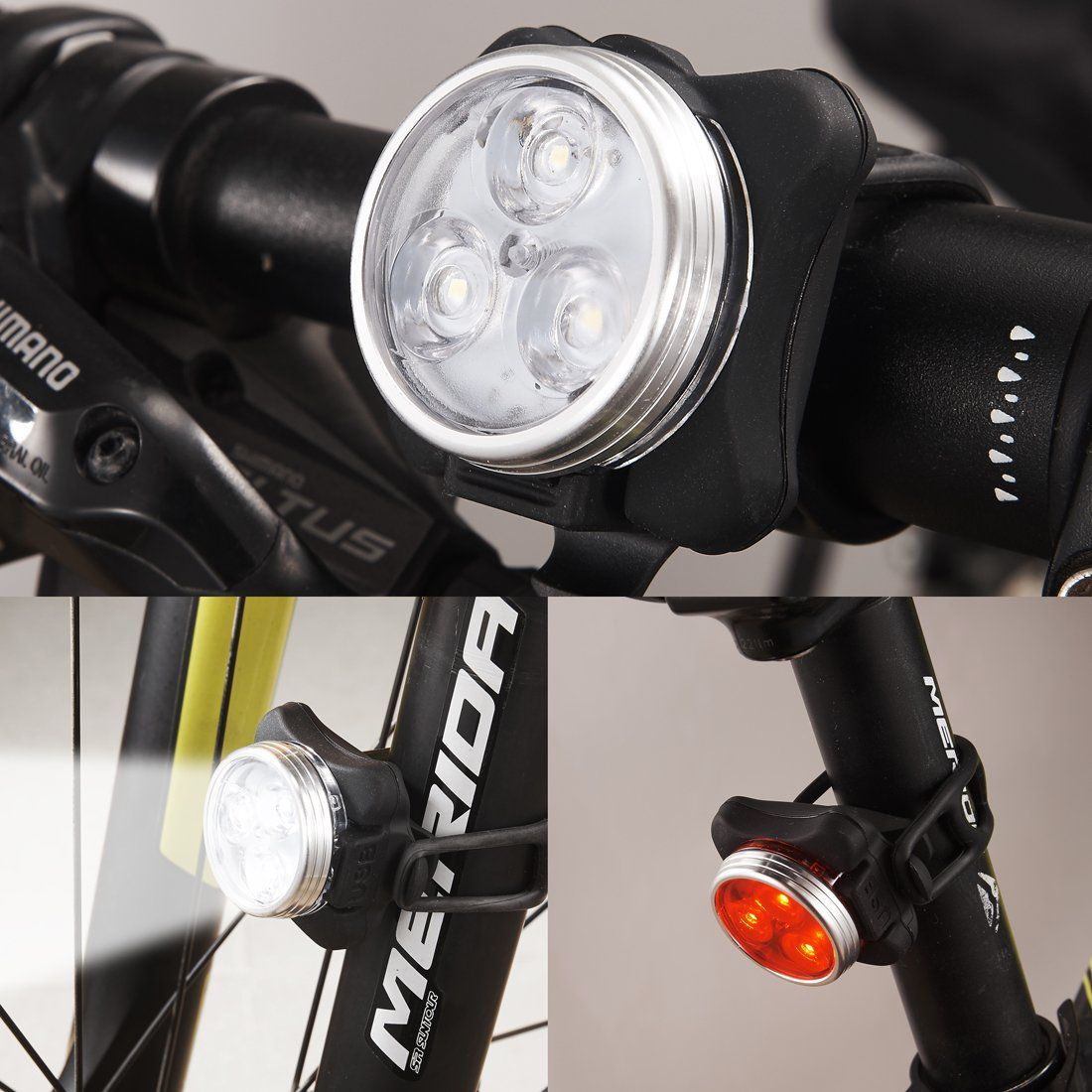 Bike Light Stuoghx Usb Rechargeable Waterproof Led Front And Rear
