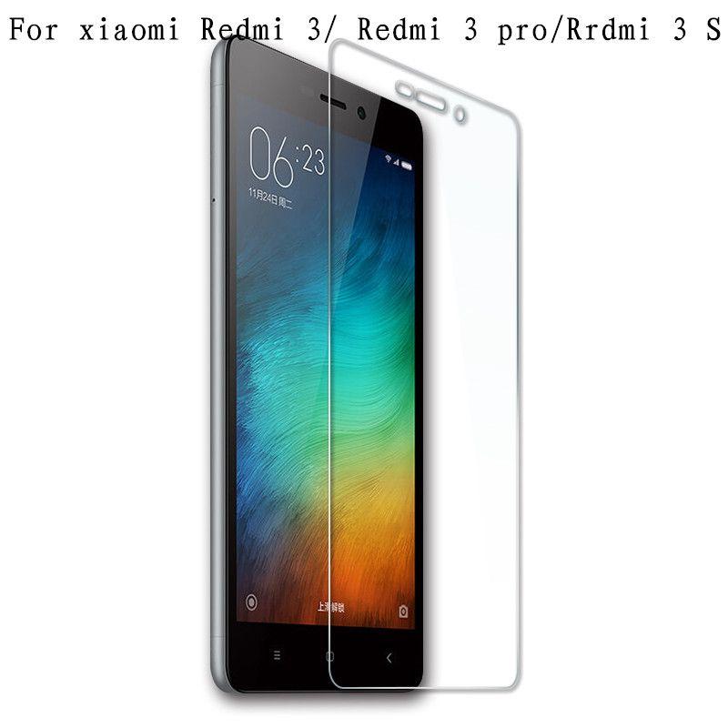 무료 배송 브랜드 xiaomi redmi 3 redmi 3 s 3pro 강화 유리 화면 보호기 필름 redmi 3 s/redmi 3 pro 유리 0.33 미리메터