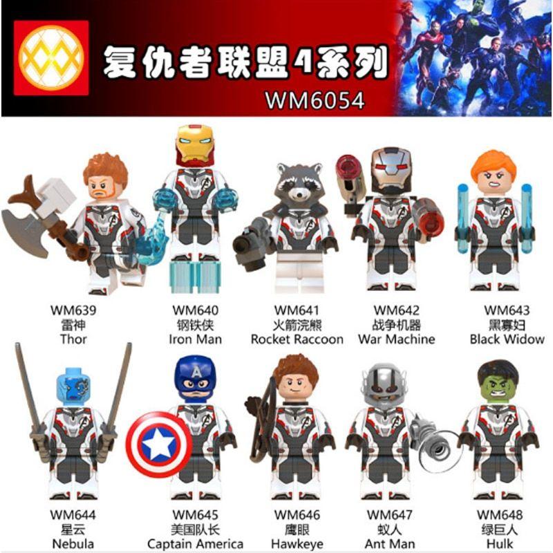 Minifigures Infinity War Avengers 4 Endgame Hulk Thanos Building Blocks Toy