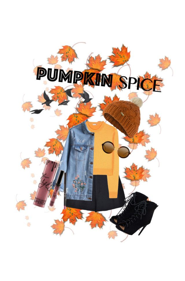 """P U M P K I N"" by thatgirlangie on Polyvore featuring RED Valentino, Miu Miu, Jayson Home, JustFab, Kylie Cosmetics and Barbour"