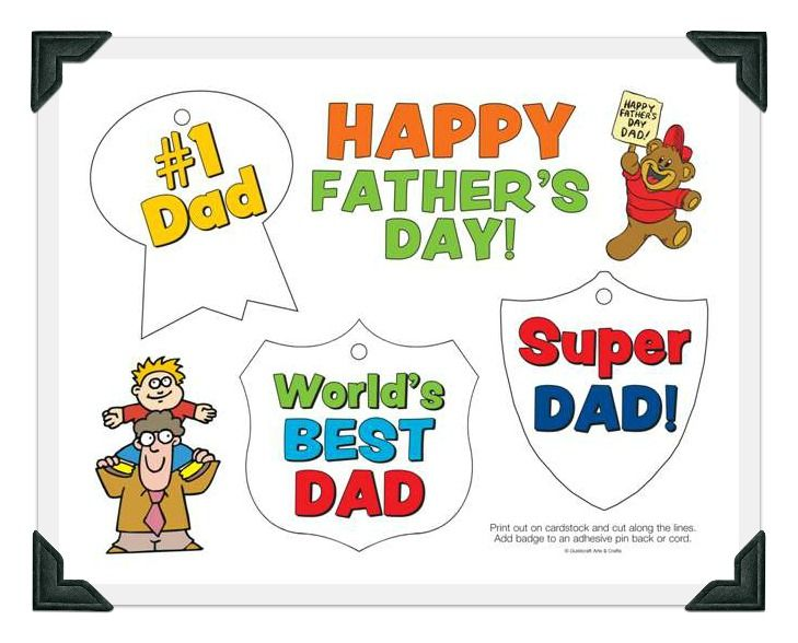 Free Printables From Guildcraft Arts Crafts Dad Badges Coloring Pages Cards And More