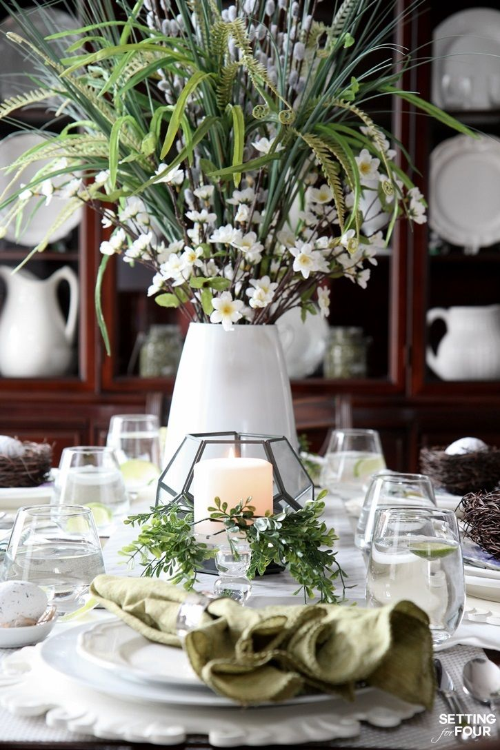Beautiful Natural Table Setting For Spring Blogger Home