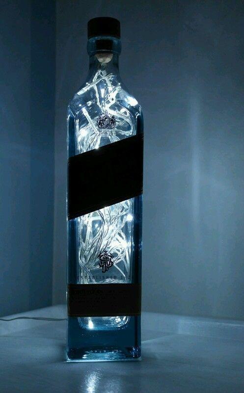 Upcycled Modern Cool Johnnie Walker Blue Label Whisky Bottle Lamp ...