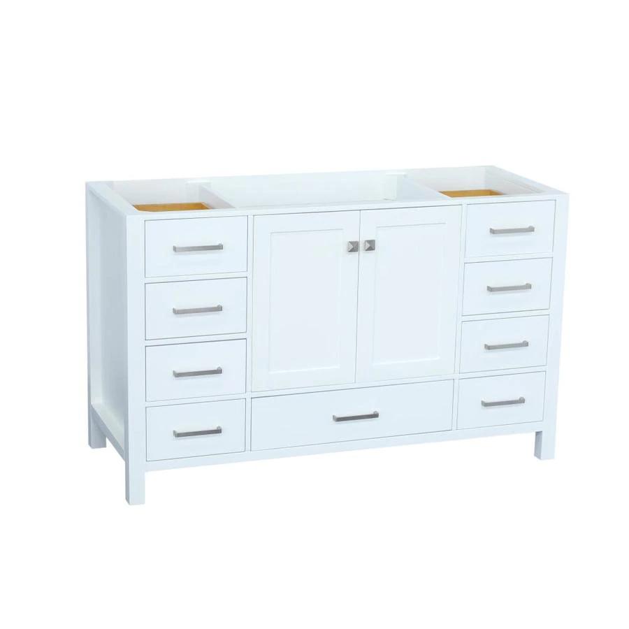 ariel cambridge 54 in white bathroom vanity cabinet lowes on lowes vanity id=89492