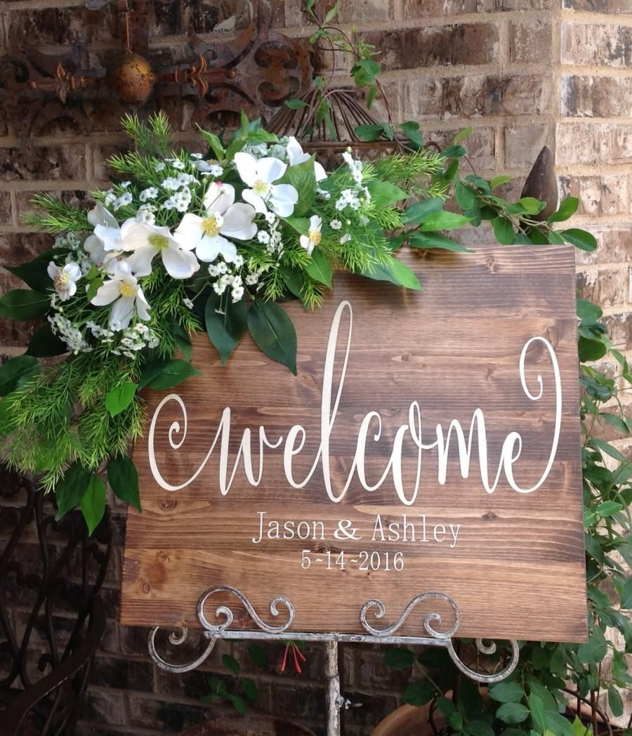 Wedding Welcome Sign Signs Wooden