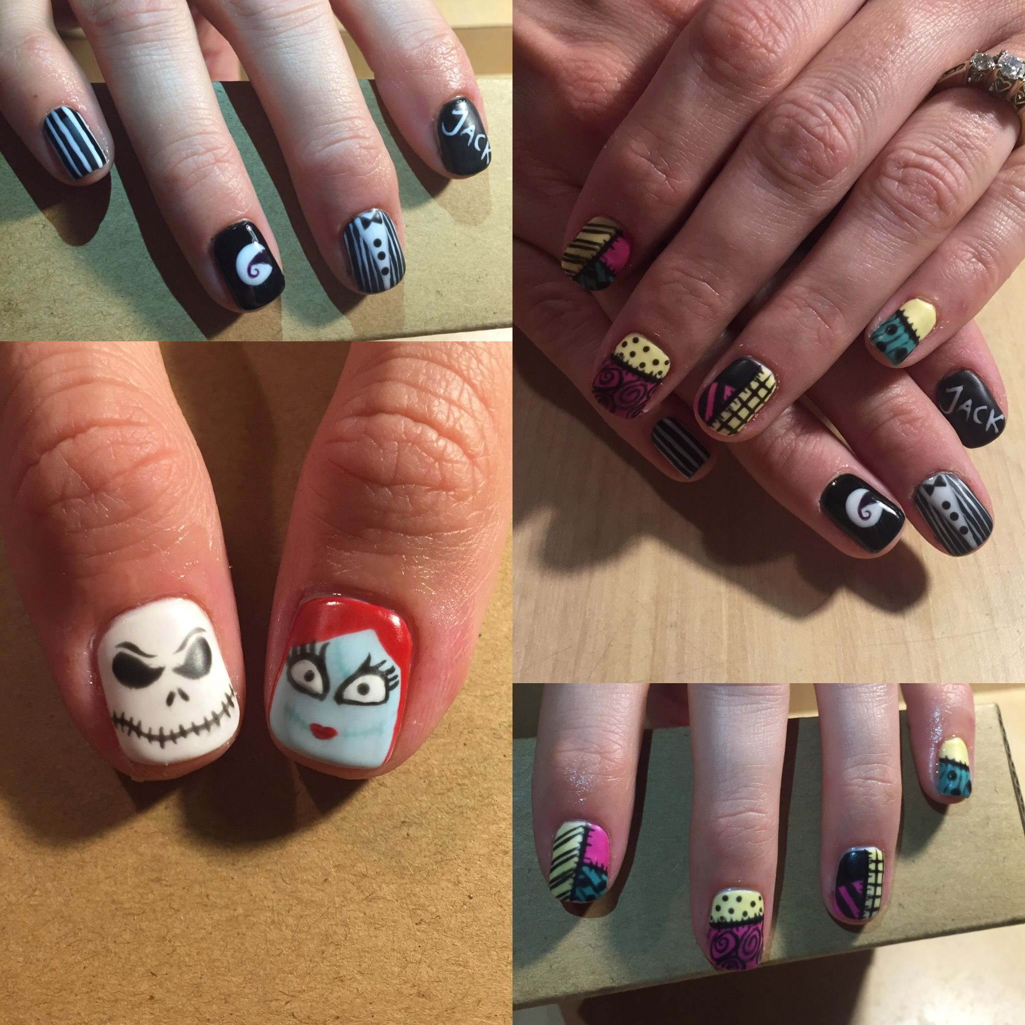 Loved these Jack Skellington and Sally nails I did! They turned out ...