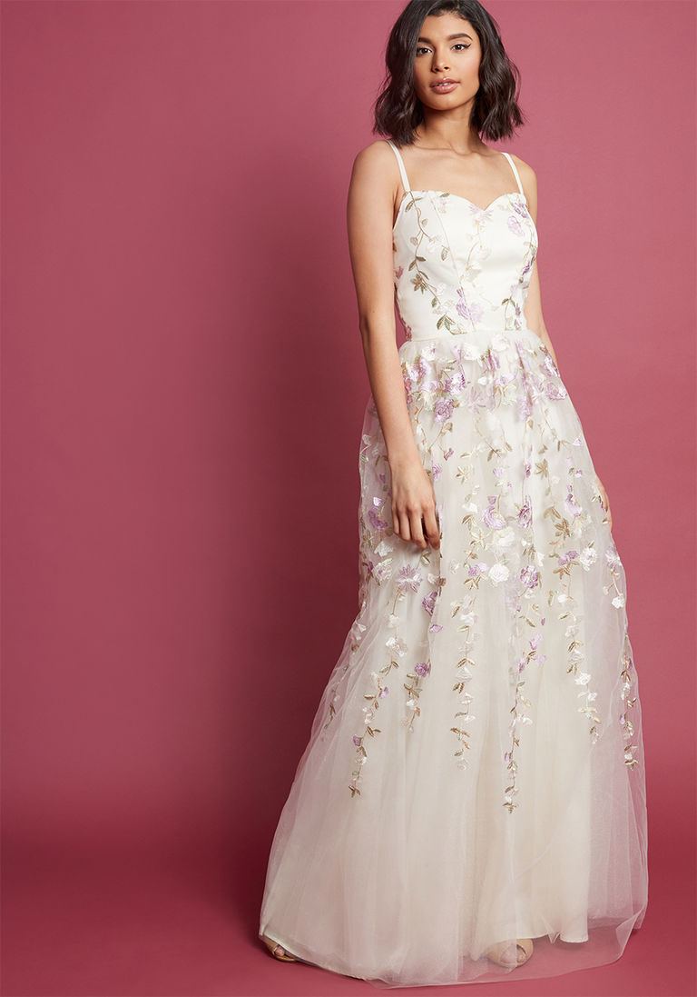 Chi chi london authentic elegance maxi dress in ivory in