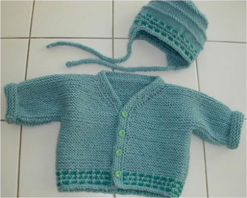 Garter Stitch Baby Sweater | Baby cardigan knitting ...