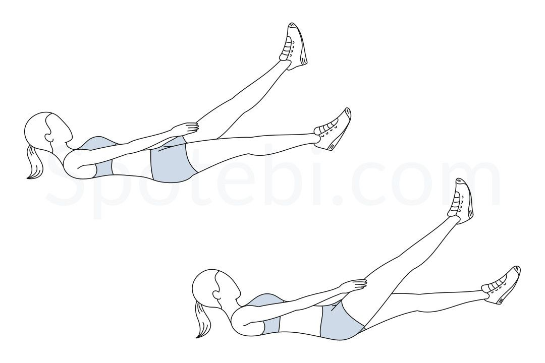 Flutter Kicks   Workout guide, Flexibility workout, Exercise