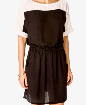 Colorblocked Georgette Dress | FOREVER21 - 2022517033