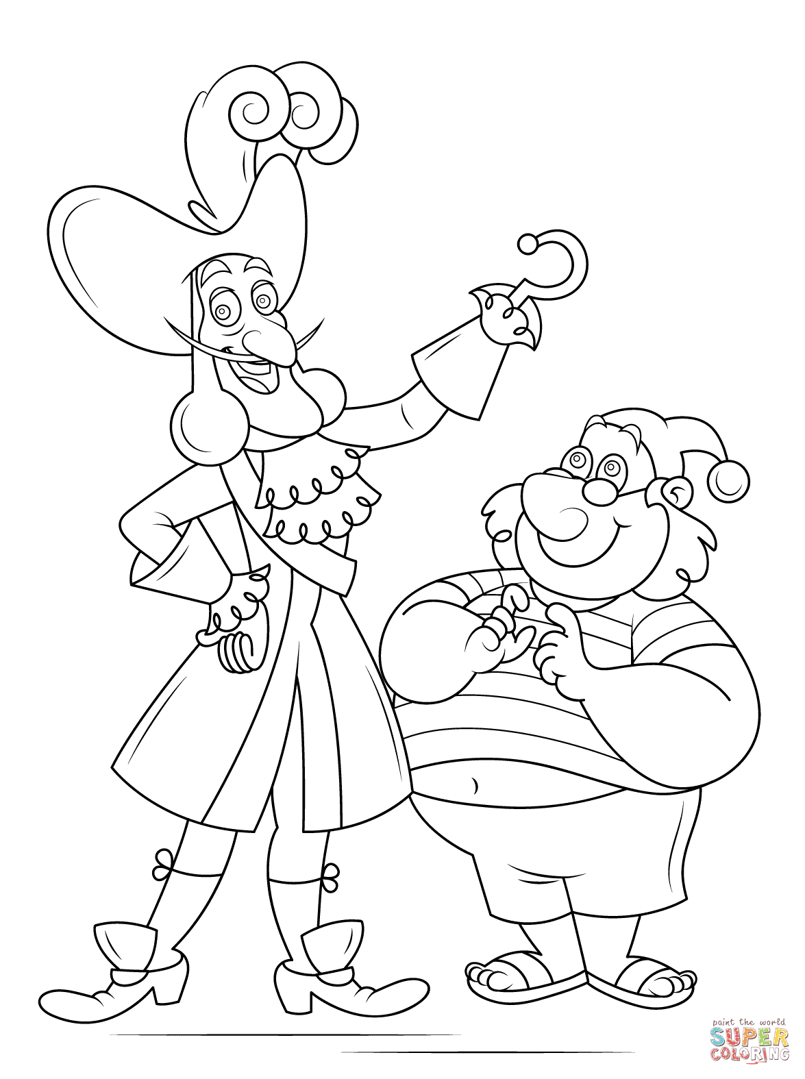 Captain Hook And Mr Smee Super Coloring Peter Pan Coloring Pages Pirate Coloring Pages Tinkerbell Coloring Pages [ png ]