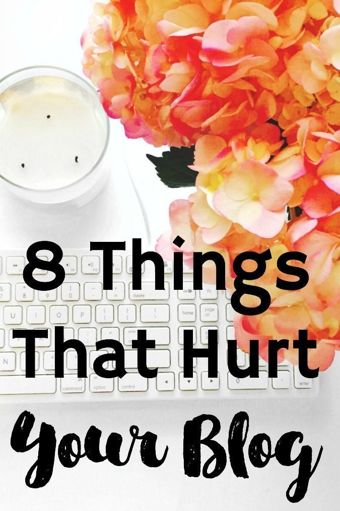 Things You're Doing That Hurt Your Blog