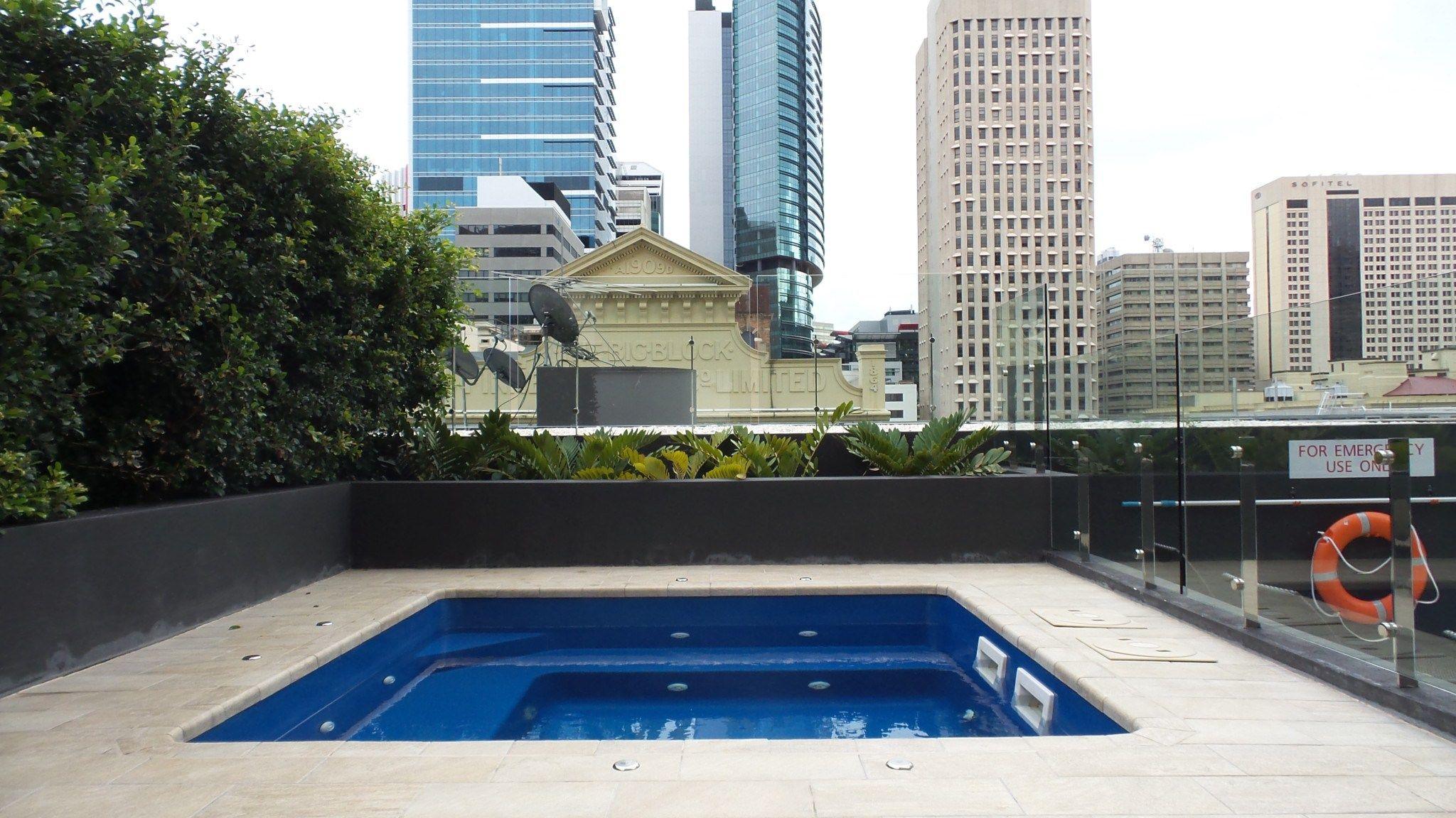Pool Spa at the Hilton Brisbane Hotel