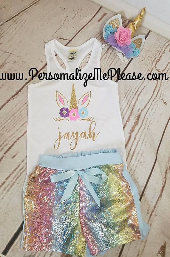 Unicorn Birthday Outfit, Birthday Tank Top, Unicorn Tank Top, Baby ...