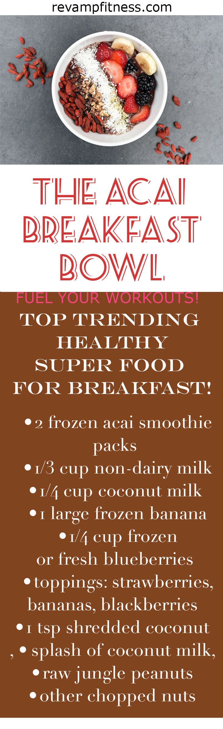 You'll love this! Top trending health and fitness recipe! Easy to create. Great for fueling before and recovering after your workouts. Many health benefits in this breakfast super food! VISIT http://revampfitness.com for more great recipes! #breakfast #fitfood #skinnyrecipes