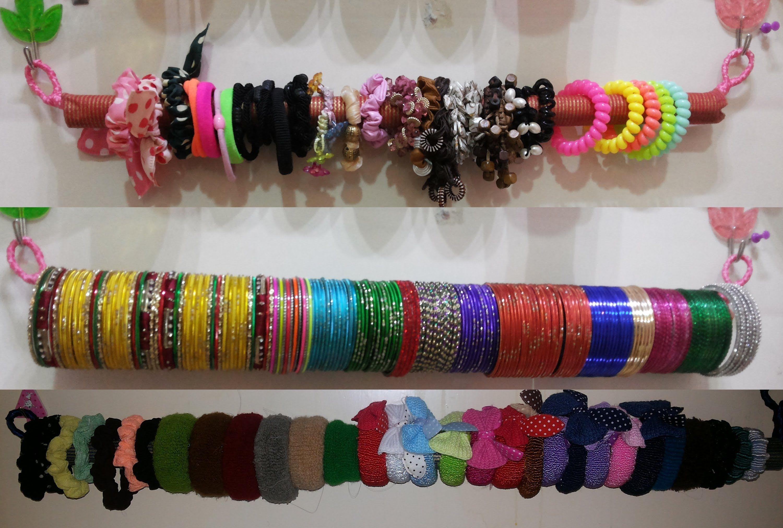 Diy how to make hairbowbanglesscrunchies holder