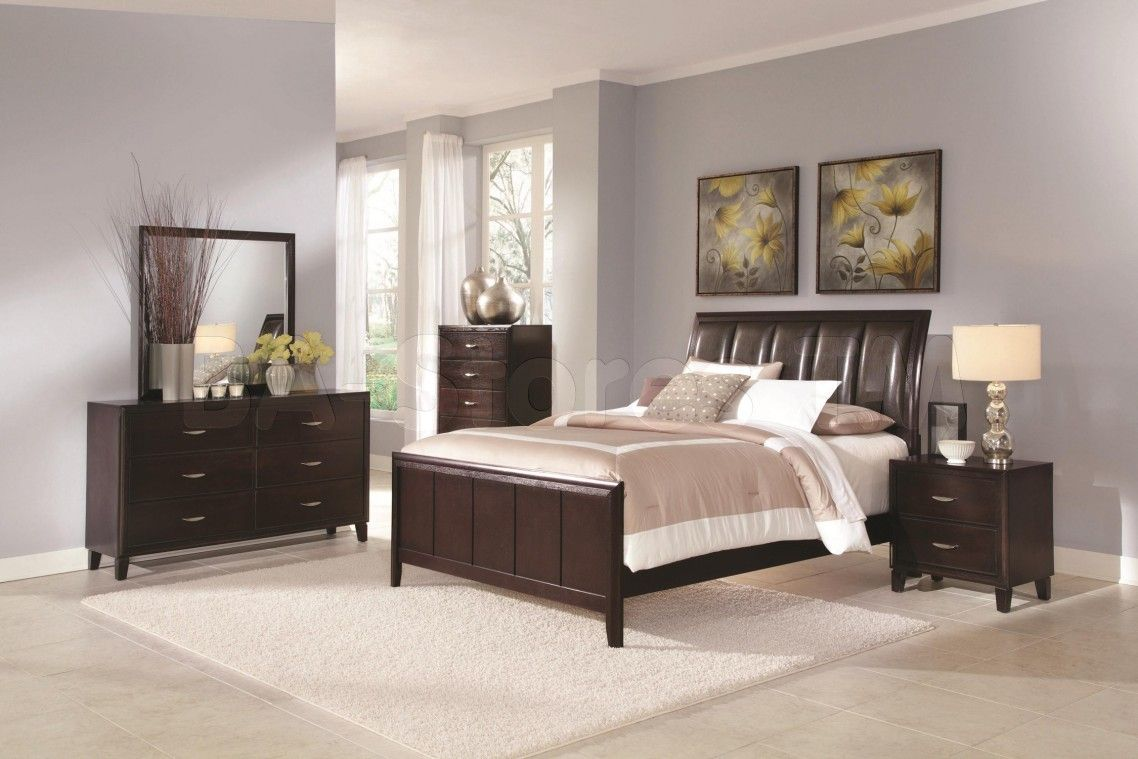 mesmerizing bed frame light brown grey bedroom walls | Simple Bedroom Decorating Ideas Together With Light Grey ...