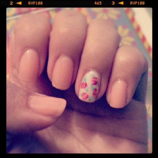 #roses #nailart #pinspiration #Valentine's