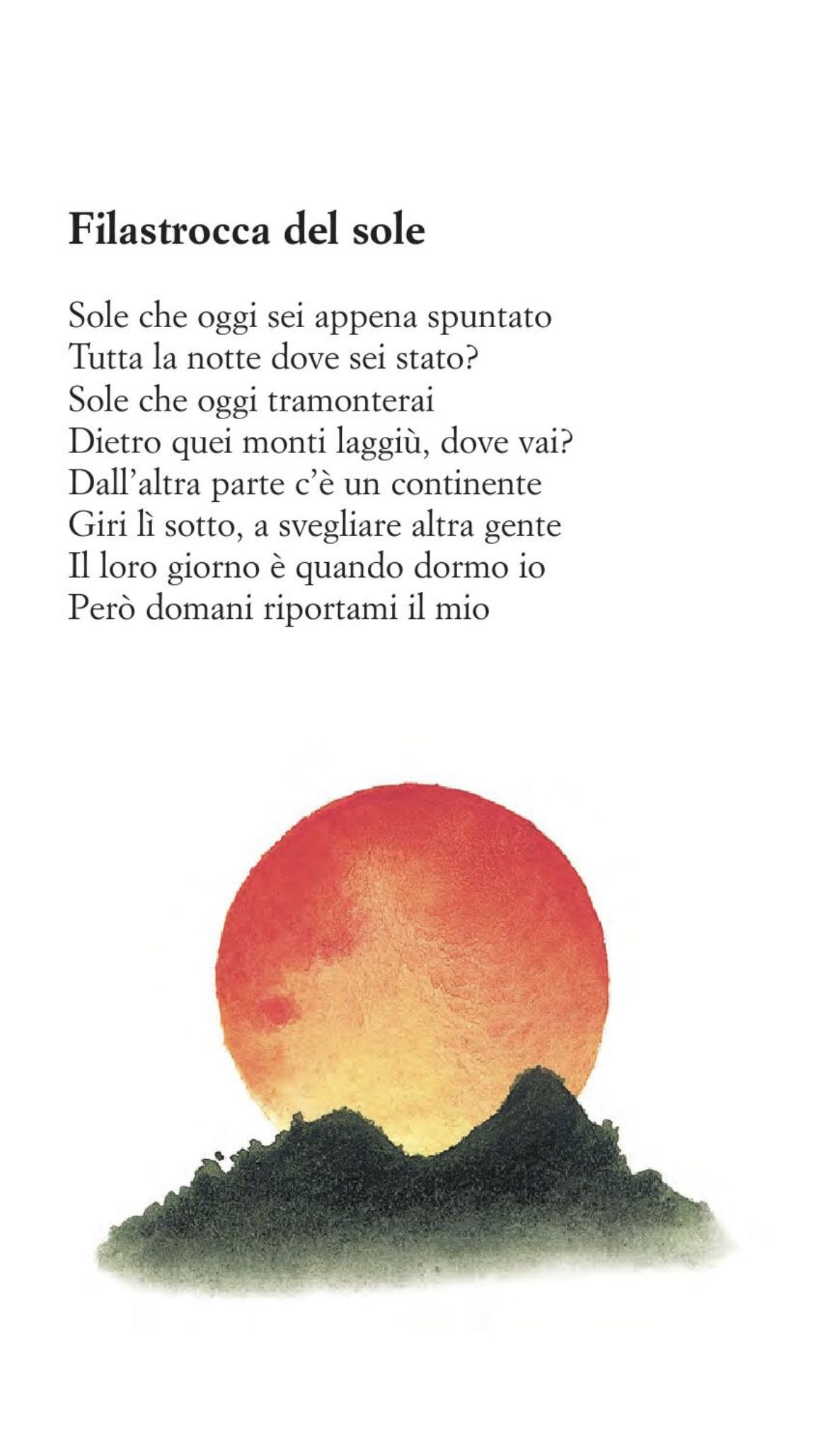 Molto Filastrocca del sole | Poesie e filastrocche | Pinterest | Sole  FU99