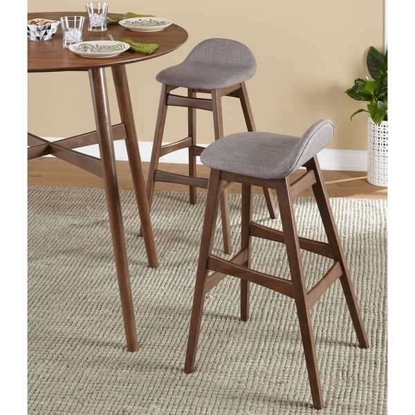 Simple Living Axel Mid Century Modern 30 Inch Bar Stool Set Of