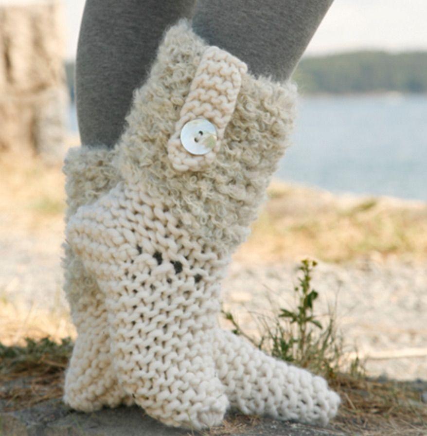 Knitted Slipper Boots Pattern Ideas | Free pattern, Slipper boots ...