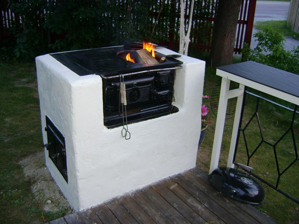 4. Vedspisen som blev en grill   Swedish vedspis - range cookers ...